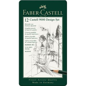 Faber-Castell - Design set μολυβιών CASTELL 9000